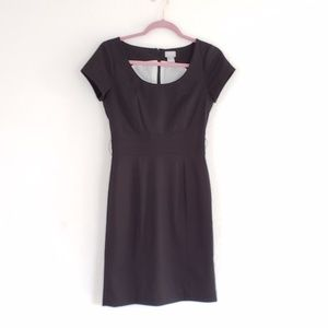 H&M Pin Stripe Black White Zippered Work Dress